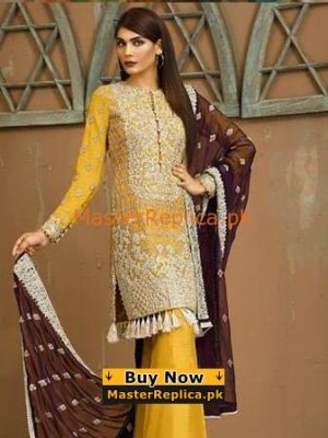 Asim Jofa Latest AJ-4B Embroidered Chiffon Collection Replica