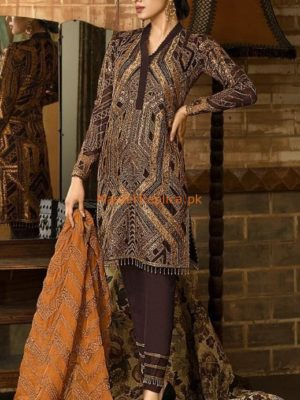 Asim Jofa Latest AJ03B Embroidered Chiffon Collection Replcia