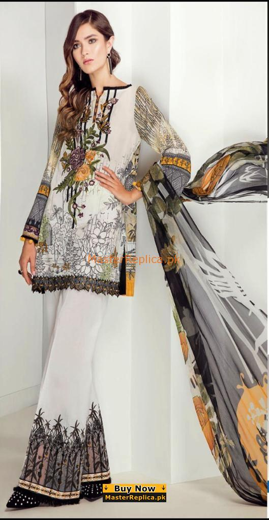 BAROQUE Luxury Embroidered Lawn Collection Replica