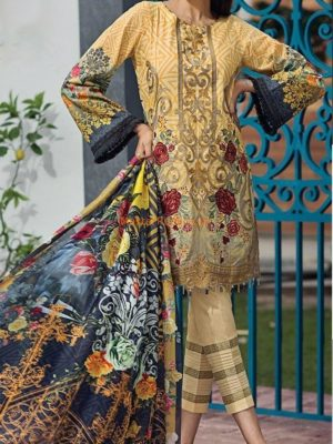 BAROQUE Latest Embroidered Winter Khaddar Collection Replica