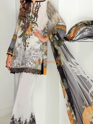 BAROQUE Luxury Embroidered Latest Lawn ColleBAROQUE Luxury Embroidered Latest Lawn Collection Replica 2018on Replica 2018