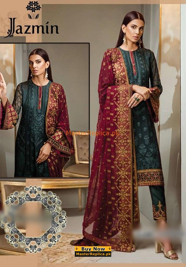 Jazmin Luxury Embroidered Chiffon Collection Replica 2018