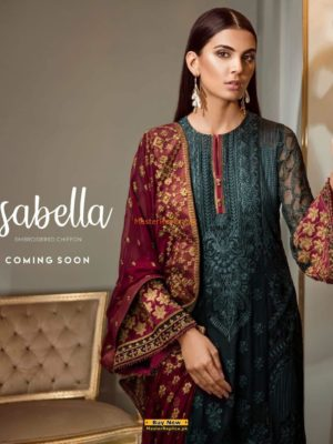Baroque Latest Embroidered Isabella Chiffon Collection Replica