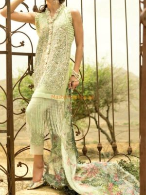 CRIMSON Luxury Embroidered Love-Mint Net Collection Replica