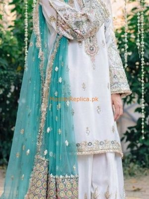 DESIGNER Latest Embroidered Wedding Collection Chiffon Replica