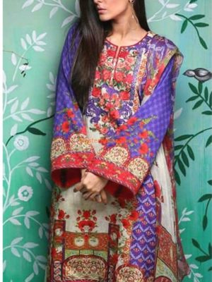 ETHNIC Luxury Embroidered Swiss Voile Collection Replica
