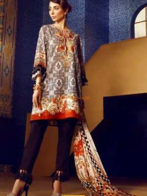 Ethnic Luxury Embroidered Winter Linen Collection Replica