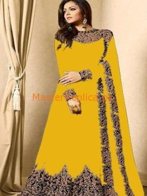 INDIAN Luxury Embroidered Festive Chiffon Maxi Collection Replica