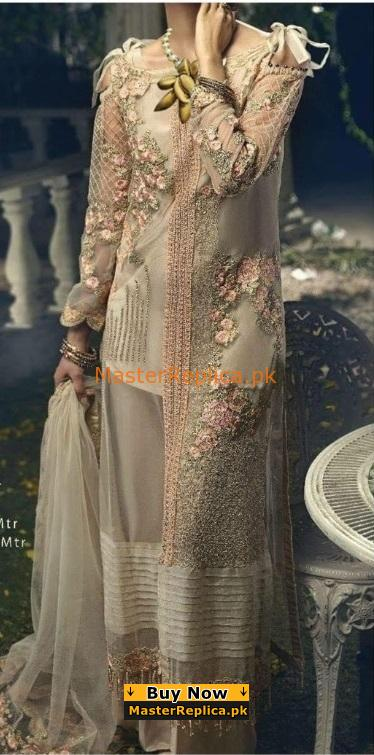 ITTEHAD Luxury Embroidered Party Wear Maysuri Collection Replica