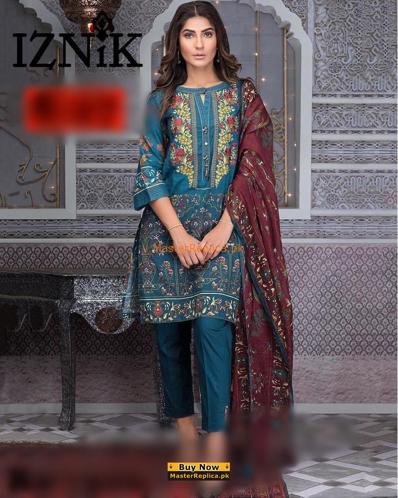 IZNIK Luxury Embroidered Chiffon Collection Replica 2018