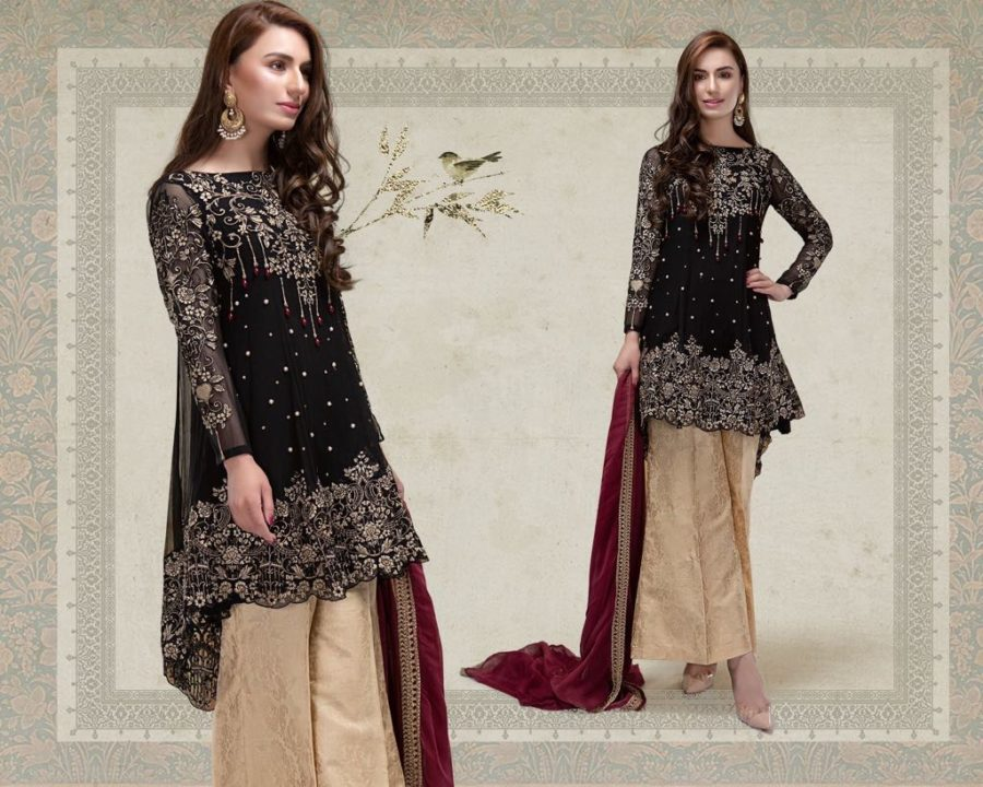 MARIA B Luxury Embroidered Linen Collection Replica 2018