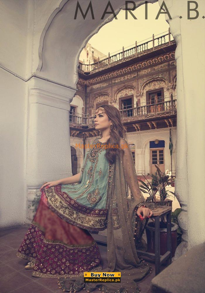 Maria B Luxury FX-654 Bridal Wear Embroidered Chiffon Collection Replica