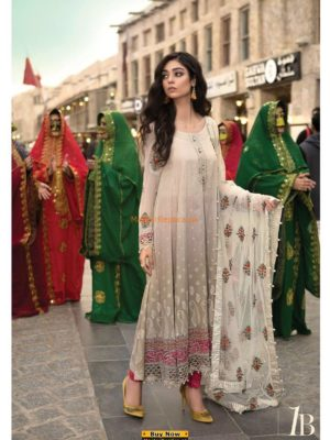 MARIA B Luxury Embroidered Lawn Collection Replica 2018