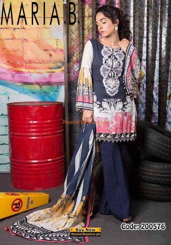 MARIA B Latest Embroidered Khaddar Collection Replica