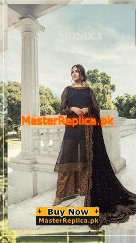 MARIA B Luxury Royal Embroidered Chiffon Collection Replica