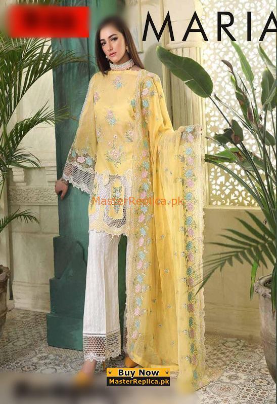 MARIA B Luxury Embroidered Festive Chiffon Collection Replica