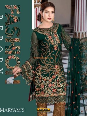 MARYAM'S Luxury Glamour Embroidered Chiffon Collection Replica