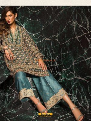 MARYAM'S Latest Embroidered Chiffon Collection Replica 2018