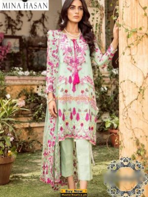 MINA HASSAN Luxury Embroidered Chiffon Collection Replica 2018