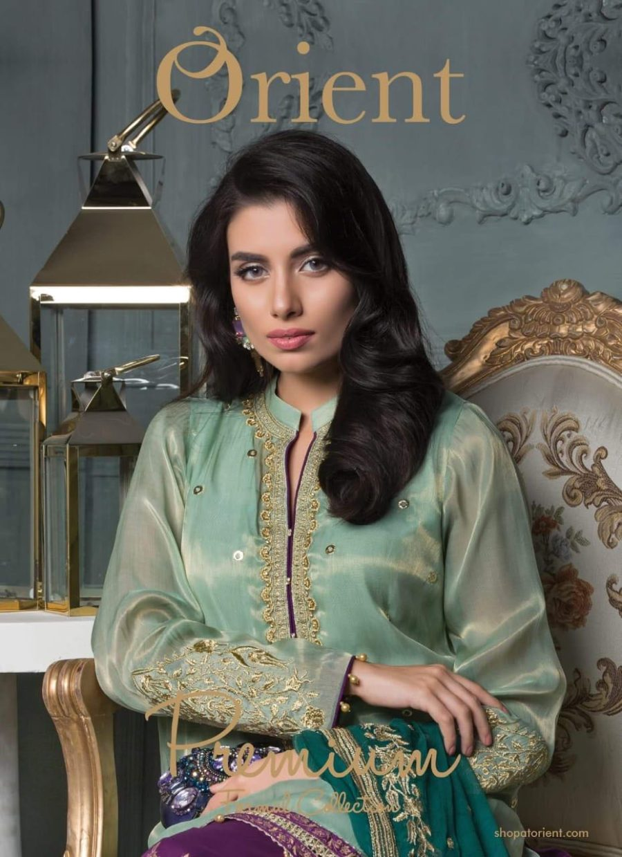 Orient Luxury Festive Embroidered Chiffon Collection Replica
