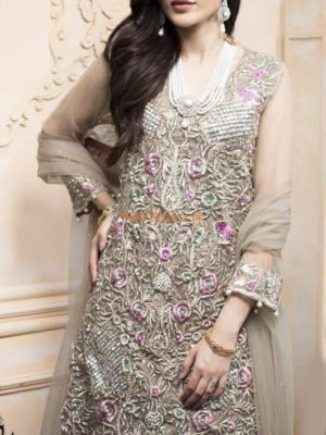 REHAN AND MUZAMMIL Luxury Embroidered Net Collection Replica
