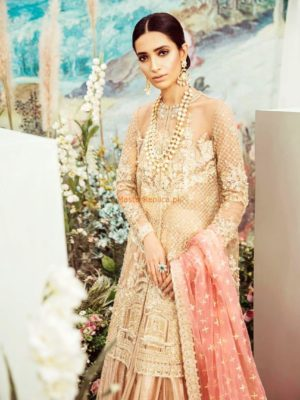 SAIRA SHAKIRA Luxury Embroidered Bridal Net Collection Replica