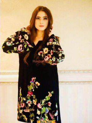 SAMMY K Luxury Embroidered Winter Velvet Collection Replica