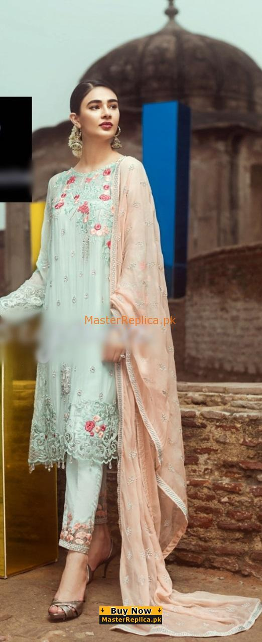 SERENE Latest Embroidered Luxury Chiffon Collection Replica