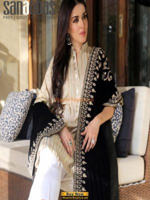 SANA ABBAS LUXURY EMBROIDERED WINTER VELVET SHAWL COLLECTION