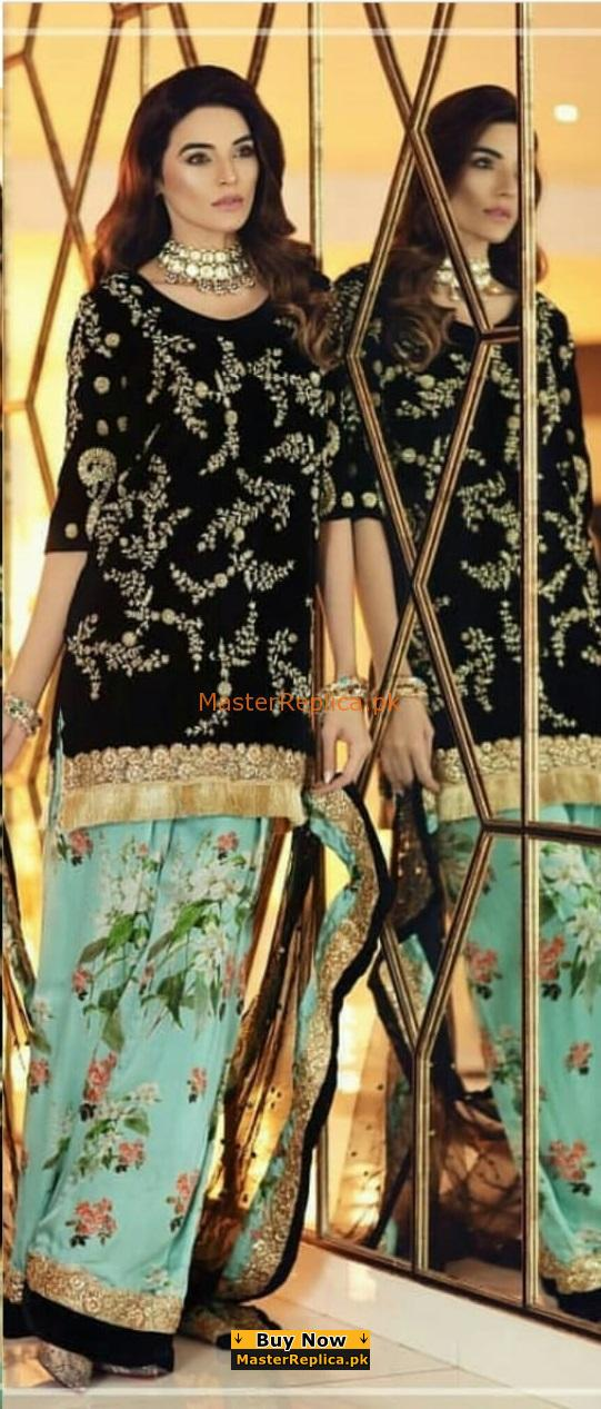 SO KAMAL Luxury Embroidered Velvet Collection Replica