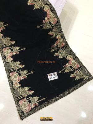 Latest Winter Embroidered Velvet Shawl Collection 2018