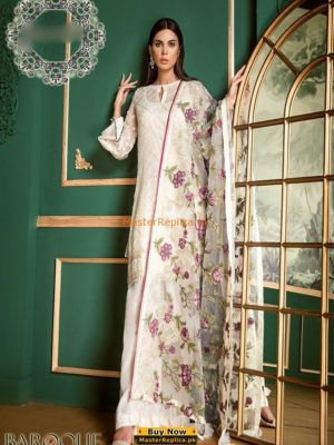 Baroque Latest Embroidered Chiffon Collection Replica 2018