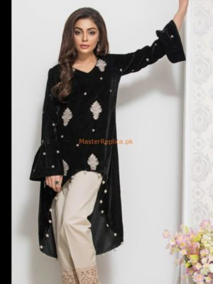 Panache Luxury Embroidered Latest Winter Velvet Original Kurti