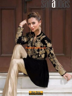 SANA ABBAS Luxury Embroidered Latest Winter Collection Replica