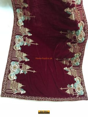 Luxury Latest Design Embroidered Velvet Shawl Collection