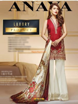 Anaya Latest ROSE GOLD Embroidered Winter Khaddar Collection Replica