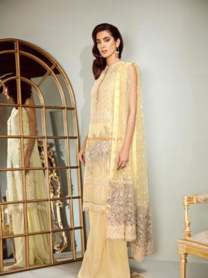 Baroque Festal Tale Luxury Embroidered Chiffon Collection Replica