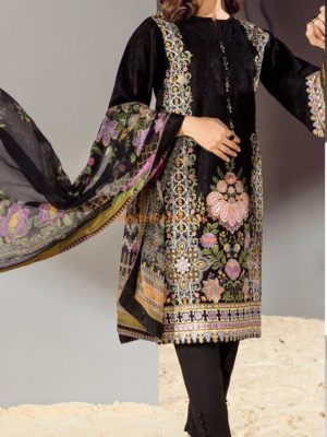 BAROQUE Luxury Embroidered Latest Cambric Cotton Collection Replica