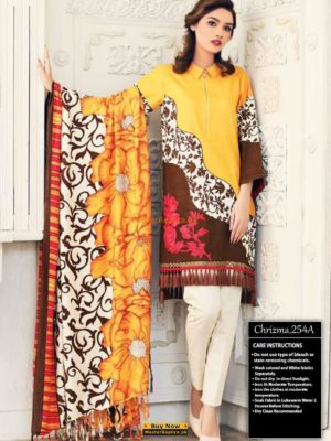 CHARIZMA LUXURY PRINTED KHADDAR COLLECTION 2018 REPLICA