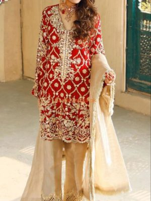 DESIGNER LUXURY EMBROIDERED BRIDAL CHIFFON COLLECTION 2018 MASTER REPLICA