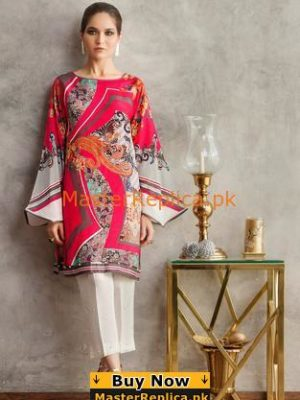 ELAN LUXURY EMBROIDERED SILK KURTI COLLECTION 2018 MASTER REPLICA