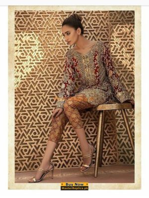 ERUM KHAN LUXURY EMBROIDERED CHIFFON COLLECTION 2018 MASTER REPLICA