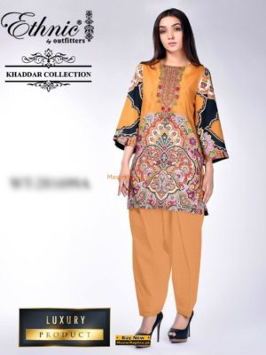 ETHNIC Luxury Embroidered Winter Khaddar Collection Replica