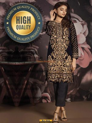 GULAAL LUXURY EMBROIDERED VELVET WINTER COLLECTION 2018 REPLICA