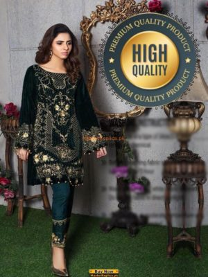 GULAAL LUXURY EMBROIDERED VELVET COLLECTION 2018 REPLICA