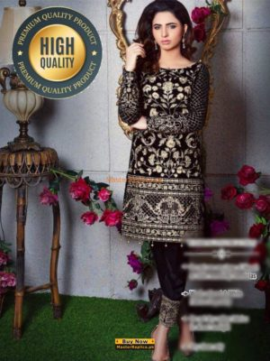GULAL LUXURY EMBROIDERED VELVET WINTER COLLECTION 2018 REPLICA