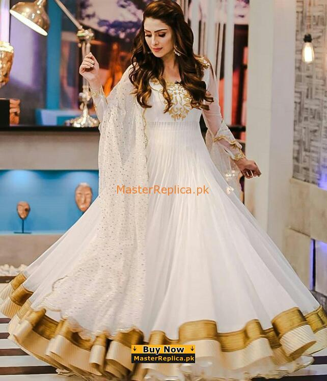 INDIAN LUXUYR EMBROIDERED CHIFFON BRIDAL MAXI COLLECTION 2018 REPLICA
