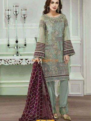 JAZMIN LUXURY EMBROIDERED CHIFFON PARTY WEAR COLLECTION 2018 MASTER REPLICA