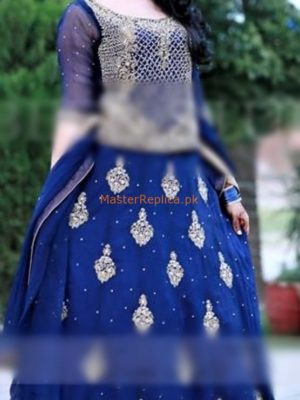KASHEES LUXURY EMBROIDERED CHIFFON MAXI PARTY WEAR COLLECTION 2018 MASTER REPLICA