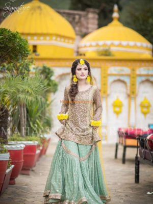 KASHEES Luxury Embroidered Latest Bridal Net Collection Replica